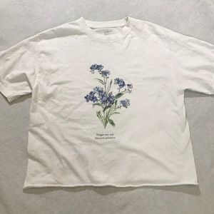 Brandy Melville Womens' Forget-Me-Not Graphic Tee